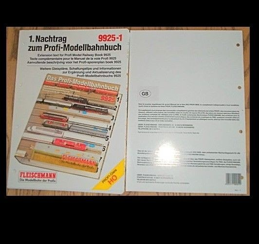 ENGLISH 1st Extension Text for Profi model railway book Fleischmann 9925-1 µ HS7