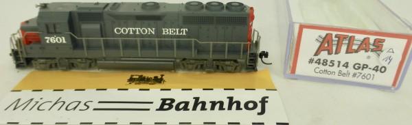 GP-40 Cotton Belt 7601 Atlas 48514 Diesellok N 1:160 OVP ∆14 å