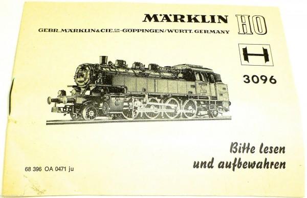 Anleitung Märklin 3096 68 396 OA 0471 ju å