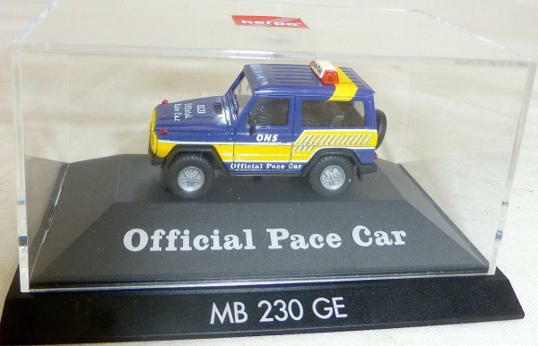 MB 230 GE Official Pace Car Herpa PC OVP 1/87 H0 #LI6 å