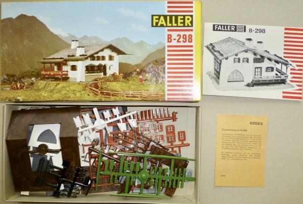 FALLER B-298 (rot) Alpenhaus Pontresina ungebaut AMS H0 1:87 OVP HQ4 å