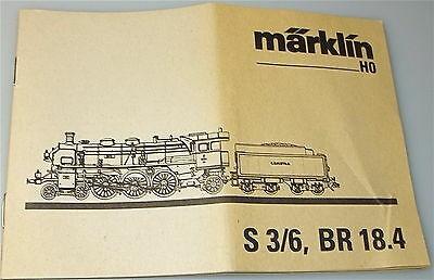 MÄRKLIN Anleitung S3/6 BR 18.4 å