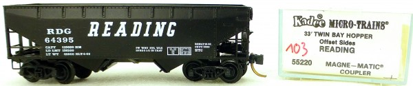 Micro Trains Line 55220 Reading 64395 33' Twin Hopper OVP 1:160 #K103 å