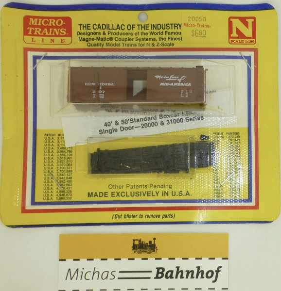 BLISTER KIT Illinois Central Güterwagen Bausatz Micro 20058 N 1:160 HC6 å