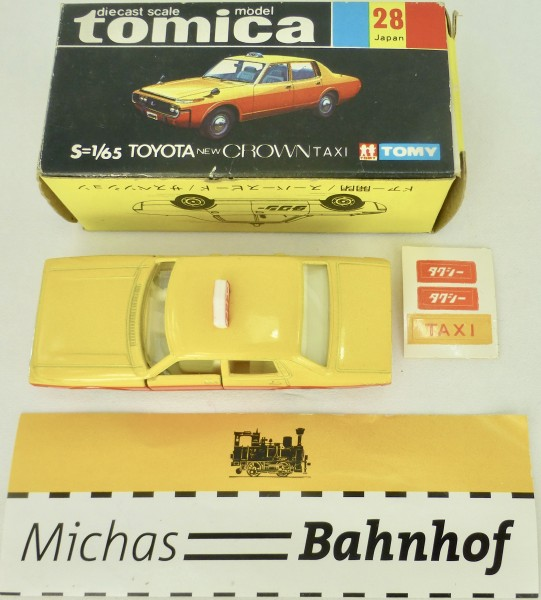 Toyota Crown Taxi 1:65 Tomy 28 Japan diecast tomica boxed like new å