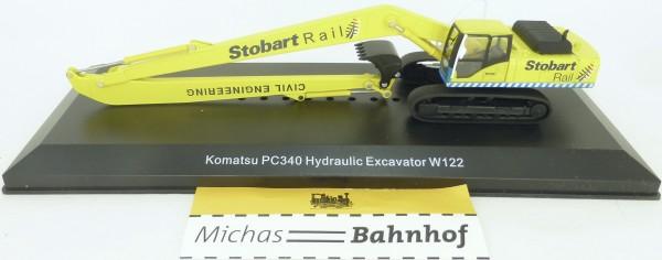 Komatsu PC340 Hydraulic Excavator W122 Stobart Rail Atlas 4664101 H0 1:76 HN1 µ *