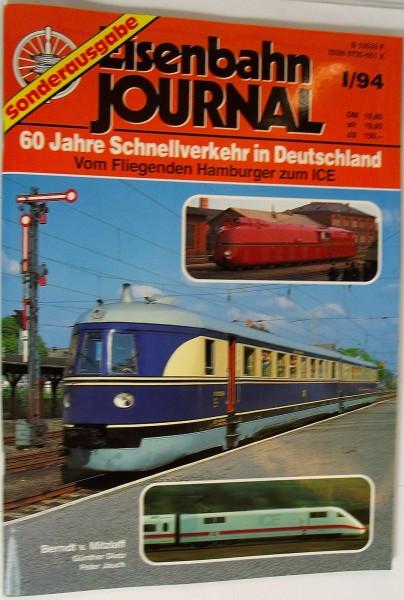 Eisenbahn Journal Sonderausgabe 60 Jahre Schnellverkehr in Deutschland I/94