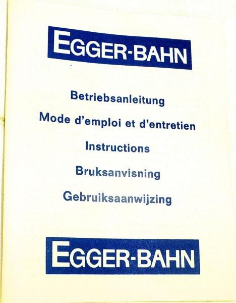 Betriebsanleitung H0e Egger Bahn Anleitung å √
