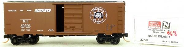 Micro Trains Line 20700 Rock Island 23220 40' St. Boxcar 1:160 OVP #H068 å