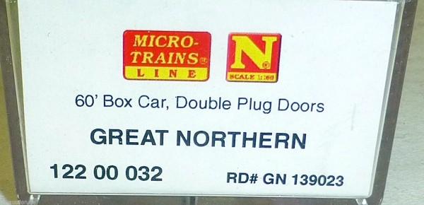Great Northern 60 Box Car Double Doors Micro Trains 122 00 032 N 1:160 HS3 å