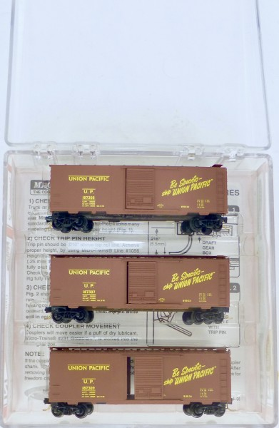 Micro Trains Line 20286-2 Union Pacific 3-tlg SET 40' St Box Car OVP 1:160 #Z01 å