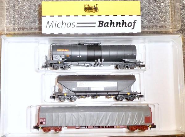 SNCF Güterwagen Set Euromill Ep V-VI NEM Minitrix 15448 N 1:160 OVP HS3 å