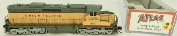 Atlas 54414 SD-24 Union Pacific 416 Diesellok Decoder Ready OVP N 1:160 #40* å