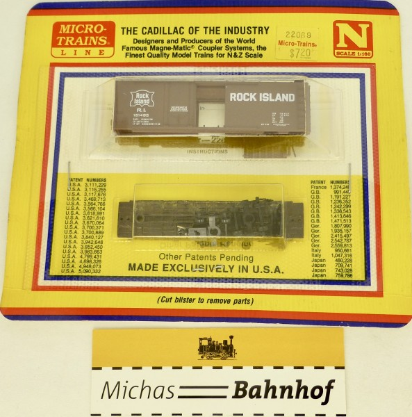 BLISTER KIT 161495 Rock Island 40' Box Car Micro Trains 22069 OVP 1:160 å