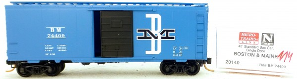 Micro Trains Line 20140 Boston Maine 74409 40' St. Boxcar 1:160 OVP #H114 å