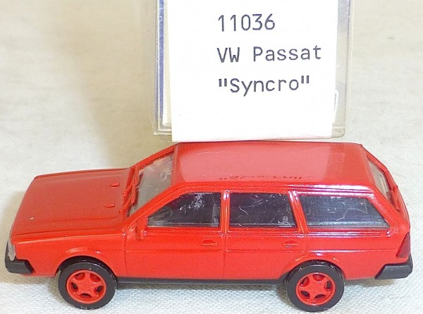 VW Passat SYNCRO rot IMU/EUROMODELL 11036 H0 1/87 OVP # LL1 å