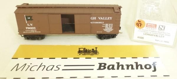 MICRO TRAINS 41020 Lehigh Valley 40' Dbl Sheathed Box Car 1-1/2 N 1:160 #97L å