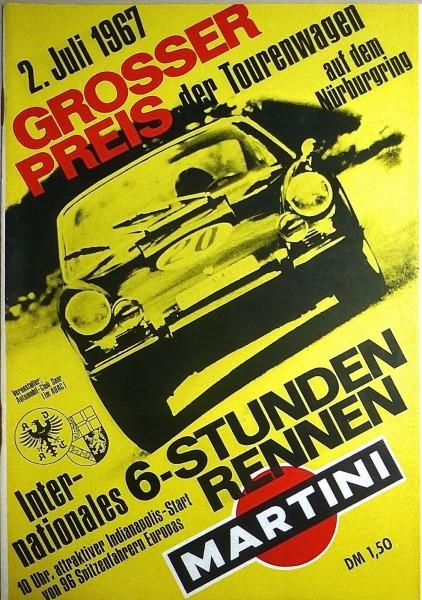2. Juli 1967 Grosser Preis der Tourenwagen Nürburgring PROGRAMMHEFT å IV05 *