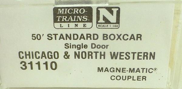 50´ Standard Boxcar CHICAGO NORTH W 51656 Micro Trains Line 31110 N 1:160 C å*
