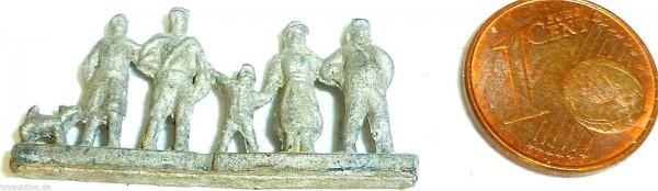 Figurengruppe Volksgenossen Verkehrsmodelle Rohling Wiking 1:200 Metall GD2 å *