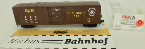 Pennsylvania 50' Rib Side Boxcar PRR 112015 Micro Trains Line 27170 1:160 P31 å