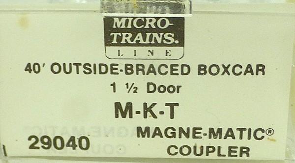 40´ Outside Boxcar MISSOURI KANSAS T 67019 Micro Trains Line 29040 N 1:160 C å*