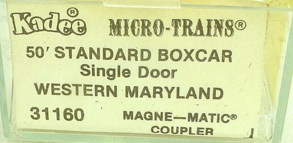 50´ Standard Boxcar WESTERN MARYLAND 34006 Micro Trains Line 31160 N 1:160 C å*