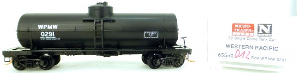 Micro Trains Line 65550 WPMW 0291 39' Single Dome Tank Car 1:160 OVP #i012 å