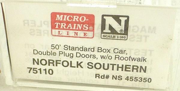 Micro Trains Line 75110 Norfolk Southern 50´ Box Car 1:160 OVP #E å*