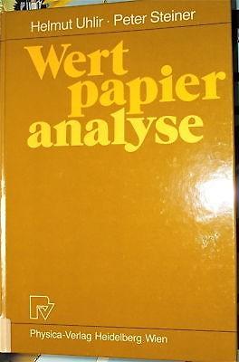 Wertpapieranalyse Helmut Uhlir - Peter Steiner 1986
