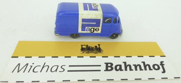 PAGE L 319 Mercedes blau L319 Werbemodell Wiking H0 1:87 GC1 å *