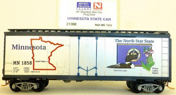 Minnesota State 40 Box Car Plug Door Microtrains Line 21360 N 1:160 HV3 å*