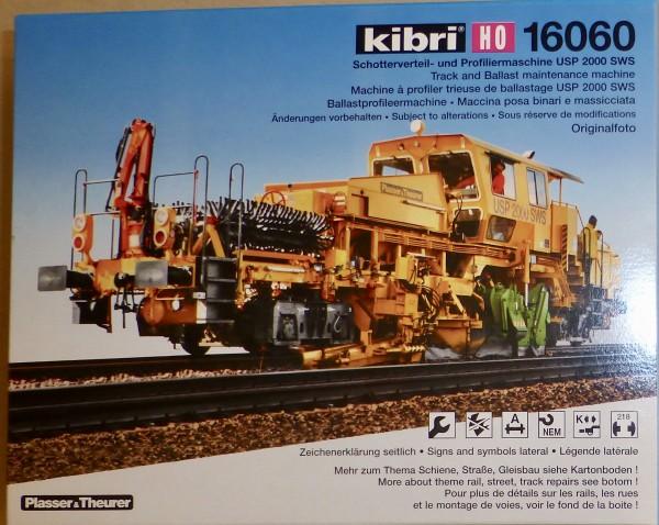KIBRI 16060 Schotterverteil- Profiliermaschine USP SWS Bausatz H0 1:87 OVP HV5 å