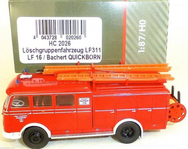 Löschgruppenfahrzeug LP311 LF16 Bachert QUICKBORN HEICO HC2026 OVP NEU µ