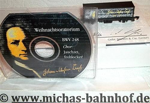 Johann Sebastian Bach Containerwagen und CD BWV 248 Märklin 8615 Spur Z 1:220
