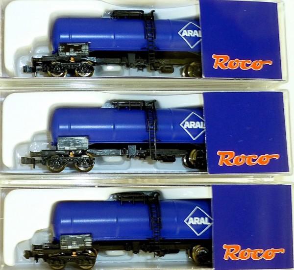 3 ARAL Kesselwagen Set DB EpIV Roco 24028 N 1:160 OVP HR5/HR3 µ *
