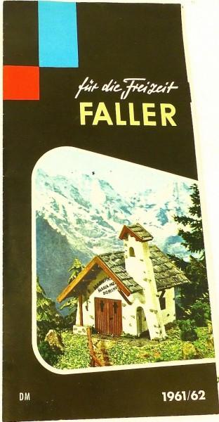FALLER für die Freizeit 1961/62 å *