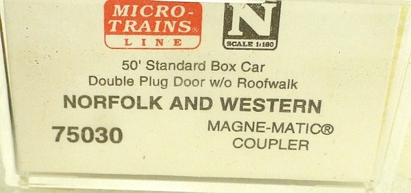 Micro Trains Line 75030 Norfolk Western 160784 50´ Box Car 1:160 OVP #E å*