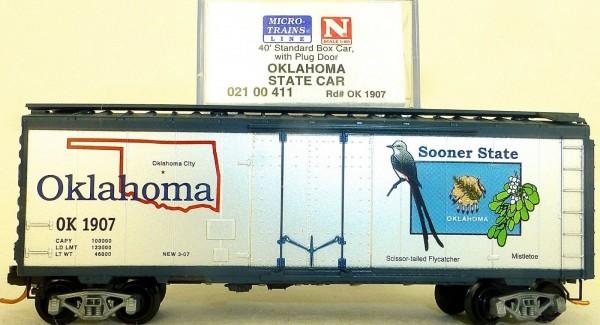 Oklahoma State 40 Box Car Plug Door Microtrains Line 021 00 411 N 1:160 HV3 å*