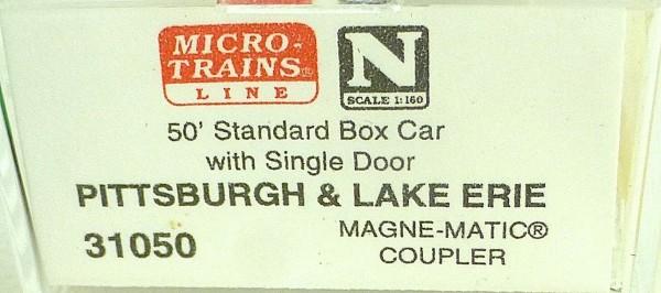 50´ Standard Boxcar PITTSBURGH ERIE 23023 Micro Trains Line 31050 N 1:160 C å*