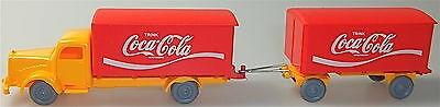 Coca Cola Mercedes 5000 Hängerzug orange rot IMU H0 1:87 #36# å