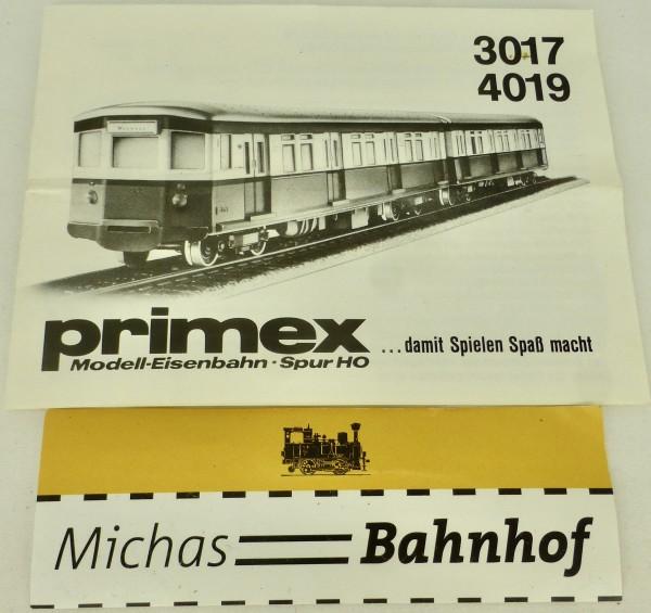 3017 4019 Primex Märklin Anleitung å