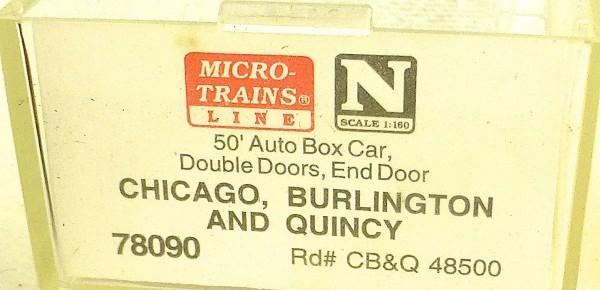 Micro Trains Line 78090 Chicago Burlington Quincy 50´ Box Car 1:160 OVP #E å *