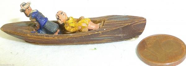 Ruderboot mit zwei Damen Holz Preiser 1:87 H0 GD1 PR8 å *