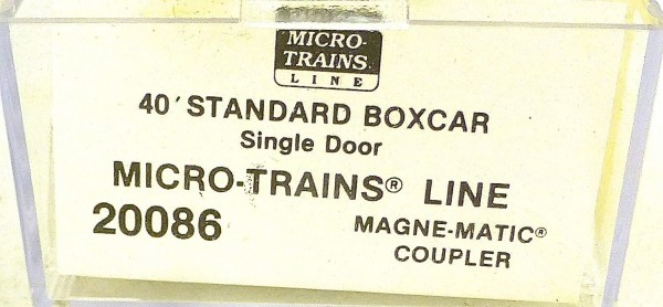 40´ St Boxcar MTL 1991 Werbewagen Micro Trains Line 20086 N 1:160 D å *