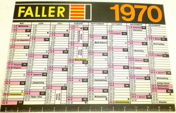 Faller Modellbau Kalender 1970 N Brücken Tunnel Bahnbauten Häuschen 9mm å