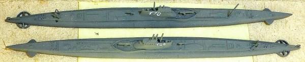 2x U Boot Japan 169 170 Schiffsmodell 1:1250 SHPZ01 å *