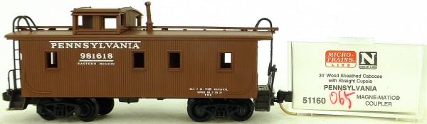 Micro Trains Line 51160 Pennsylvania 981618 34' CABOOSE OVP 1:160 #K065 å