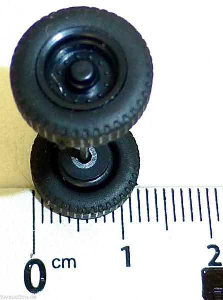 100 x Radsatz 30mm Achsbreite schwarz Felge Plastik Herpa Albedo 1:87 R417 å *