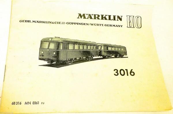 3016 Märklin Anleitung 68 316 MN 0361 ru å